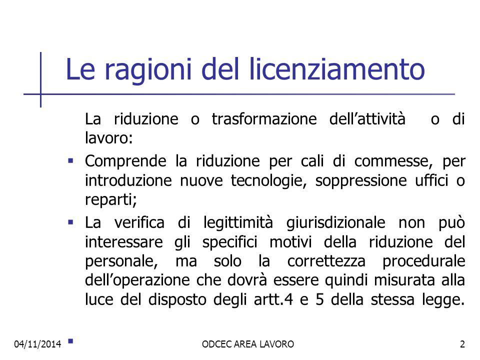 Tipo di licenziamento collettivo Due distinte fattispecie autonome:  Procedura di mobilità ex art.4 e 5 L.