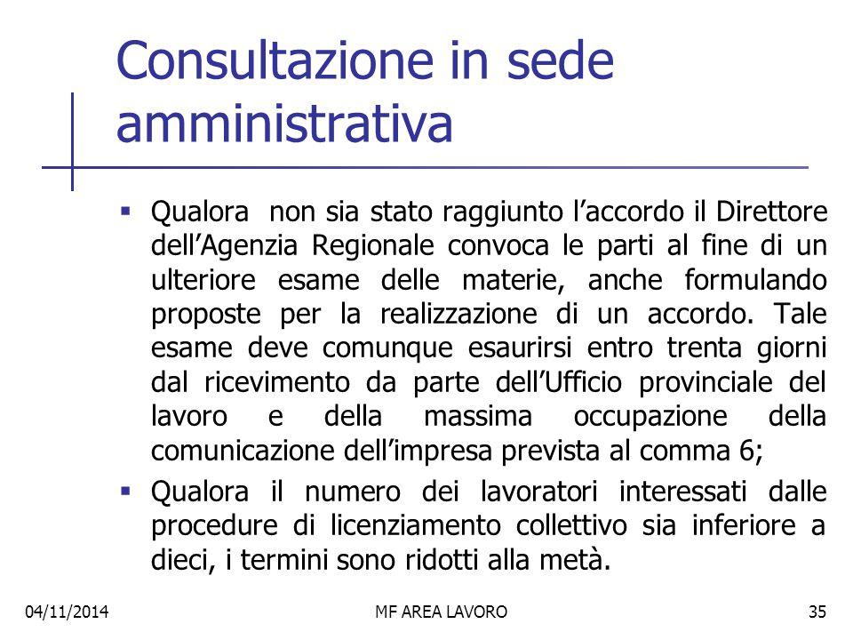 Conclusione fase amministrativa  La procedura deve essere esaurita entro quarantacinque giorni dalla data del ricevimento della comunicazione dell'impresa.