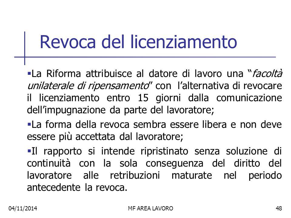 Le modifiche introdotte dalla Riforma Fornero (art.