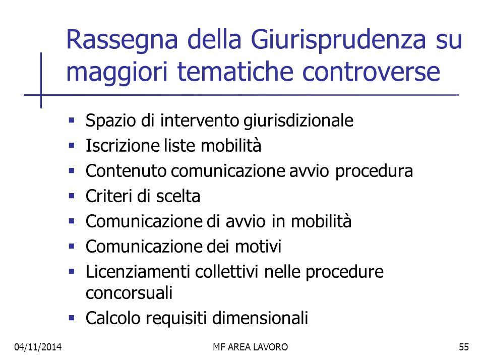 Errata applicazione criteri scelta 04/11/2014MF AREA LAVORO56 Il Trib.