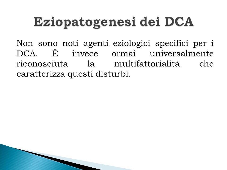 Nello sviluppo dei DCA possono essere implicati numerosi fattori predisponenti:  Fattori individuali (psicologici e biologici);  Fattori familiari;  Fattori socio-culturali.