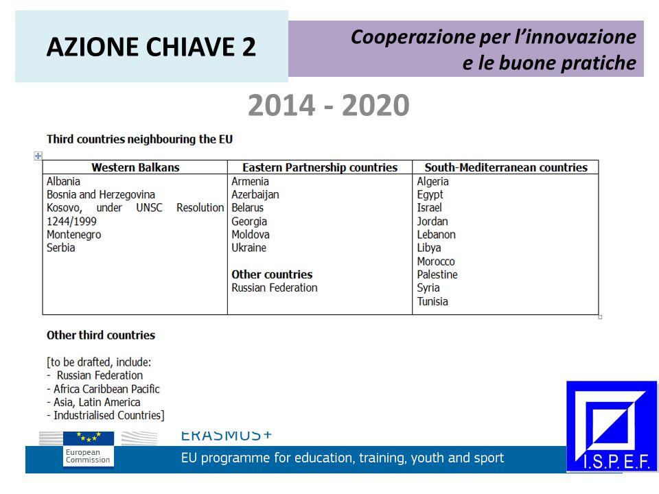 2014 - 2020 Cooperazione per l'innovazione e le buone pratiche AZIONE CHIAVE 2