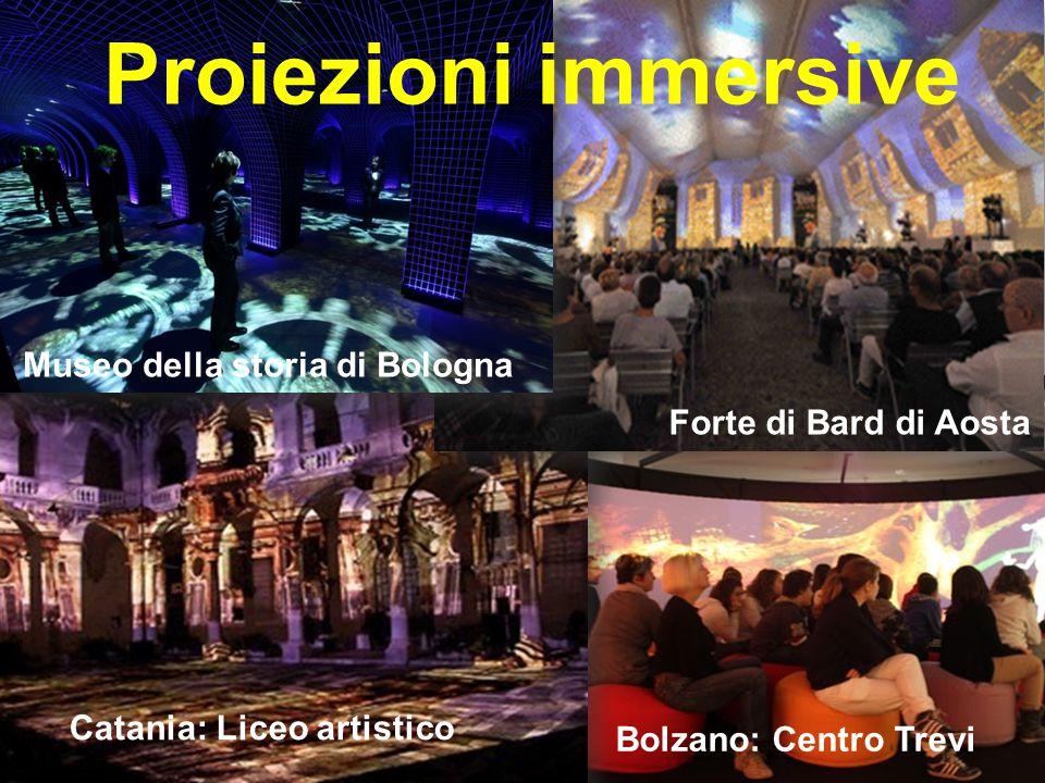 Proiezioni immersive Museo della storia di Bologna Forte di Bard di Aosta Catania: Liceo artistico Bolzano: Centro Trevi