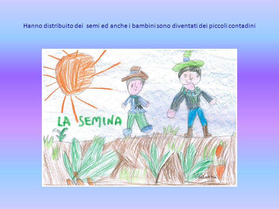 Hanno distribuito dei semi ed anche i bambini sono diventati dei piccoli contadini