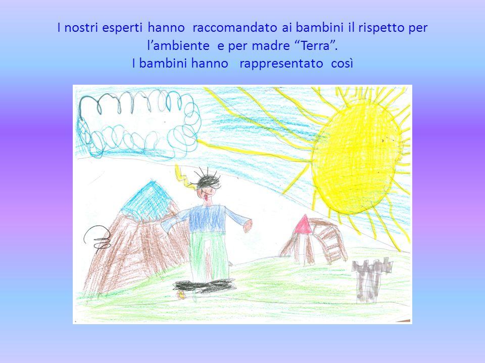 """I nostri esperti hanno raccomandato ai bambini il rispetto per l'ambiente e per madre """"Terra"""". I bambini hanno rappresentato così"""