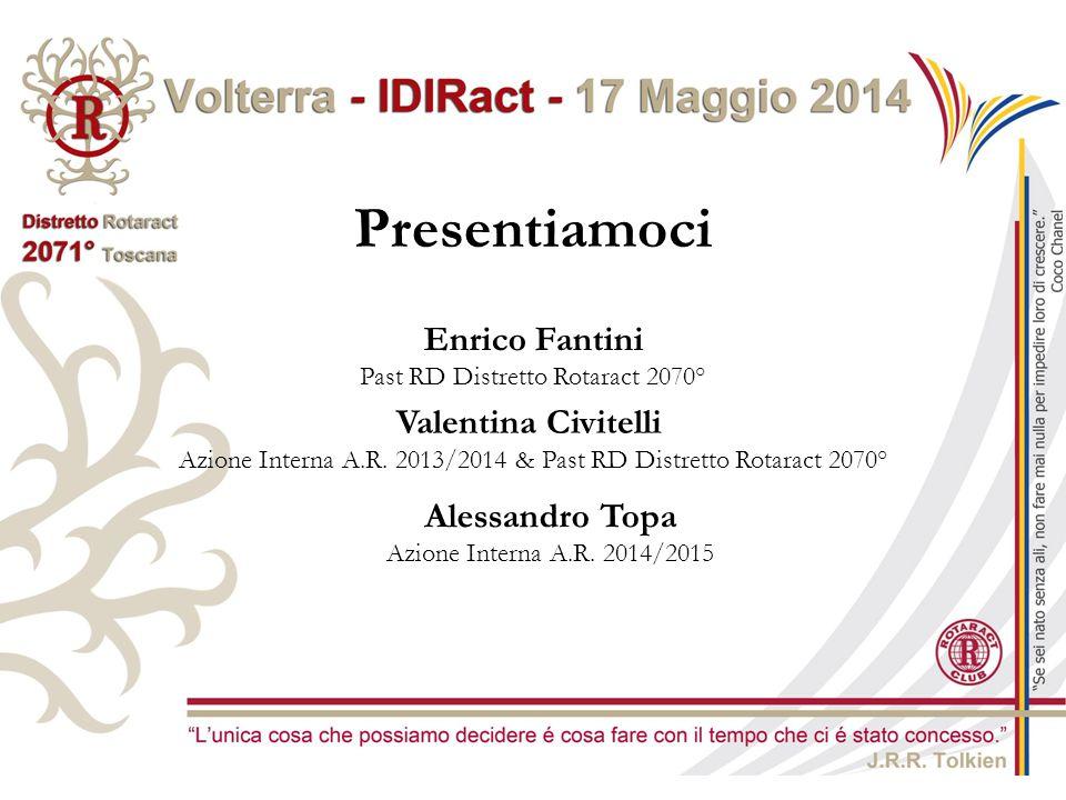 Presentiamoci Enrico Fantini Past RD Distretto Rotaract 2070° Valentina Civitelli Azione Interna A.R. 2013/2014 & Past RD Distretto Rotaract 2070° Ale