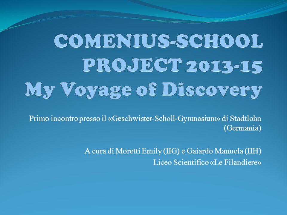 Primo incontro presso il «Geschwister-Scholl-Gymnasium» di Stadtlohn (Germania) A cura di Moretti Emily (IIG) e Gaiardo Manuela (IIH) Liceo Scientific