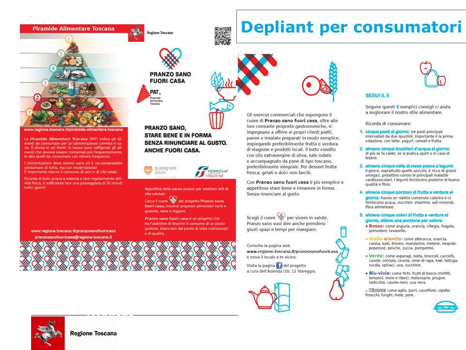 Depliant consumatori Depliant per consumatori