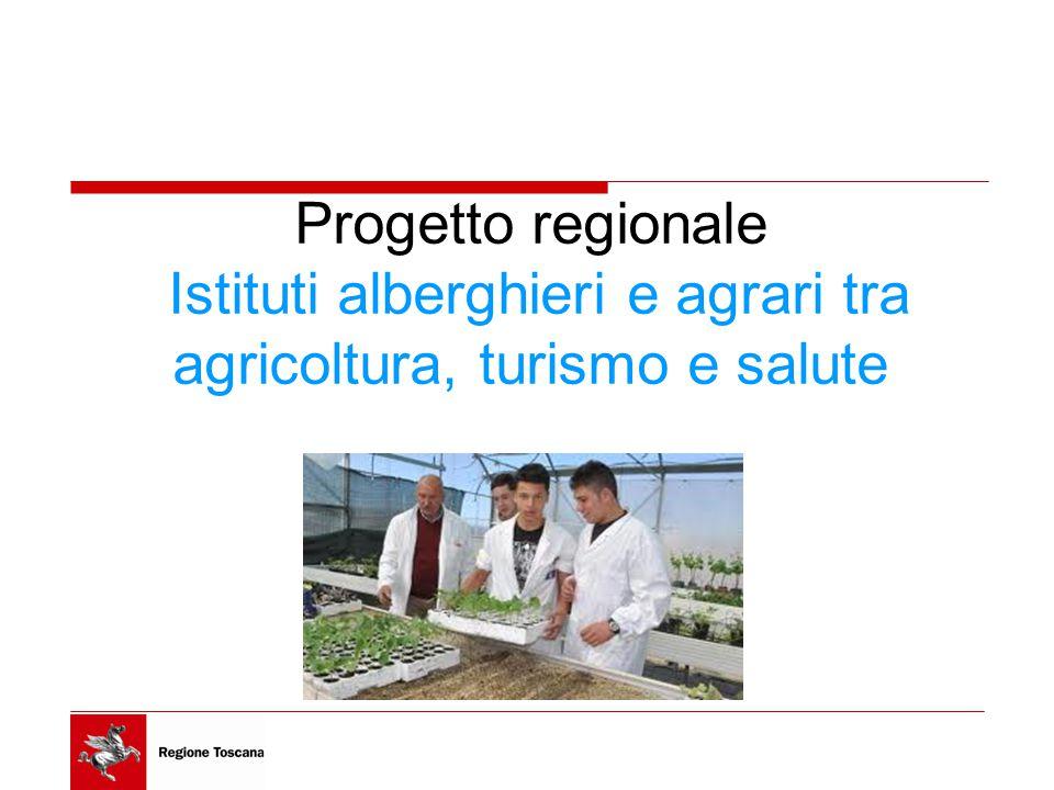 Progetto regionale Istituti alberghieri e agrari tra agricoltura, turismo e salute