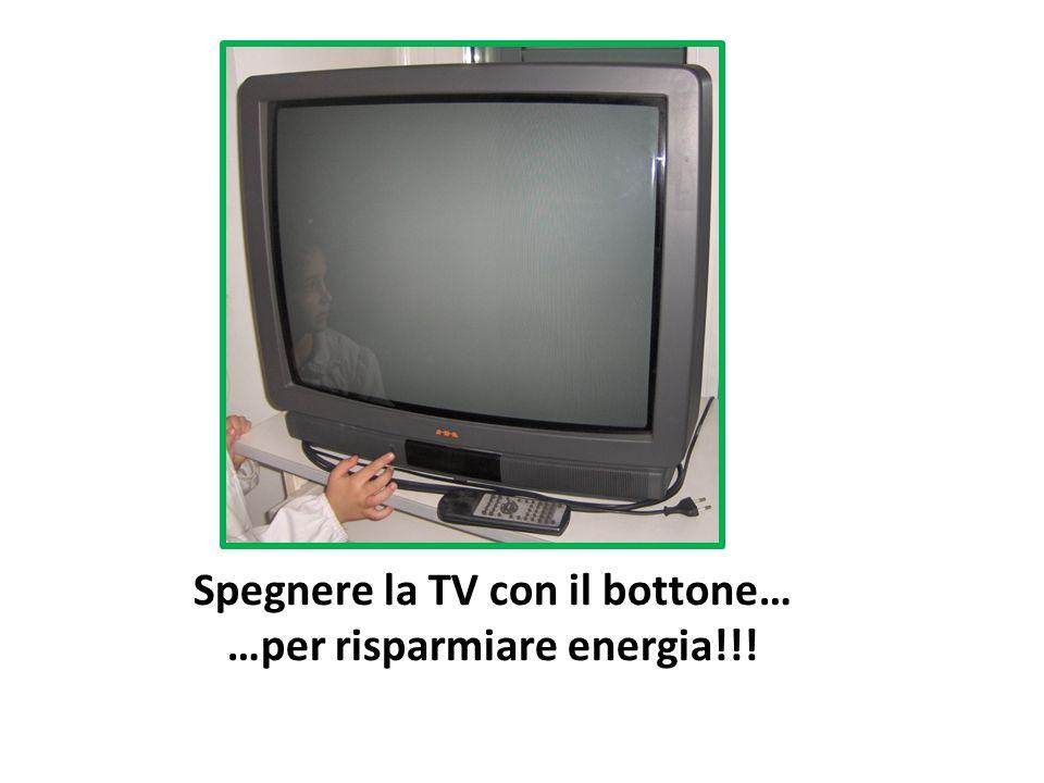 Spegnere la TV con il bottone… …per risparmiare energia!!!