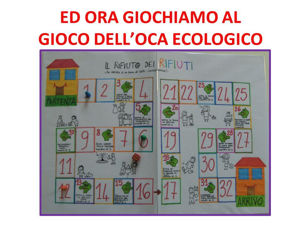 ED ORA GIOCHIAMO AL GIOCO DELL'OCA ECOLOGICO