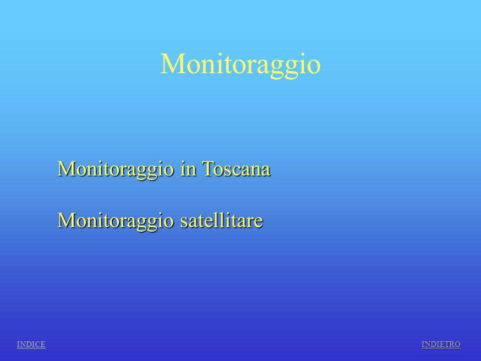 Monitoraggio in Toscana INDICE Dei rilevamenti necessari al controllo della qualità dell'aria in Toscana è la società ARPAT che se ne occupa.