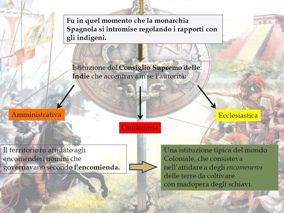 La tratta degli schiavi e la crisi demografica Una forte crisi demografica fu causata tra gli indigeni a causa: Delle guerre tra questi ultimi e gli Spagnoli.