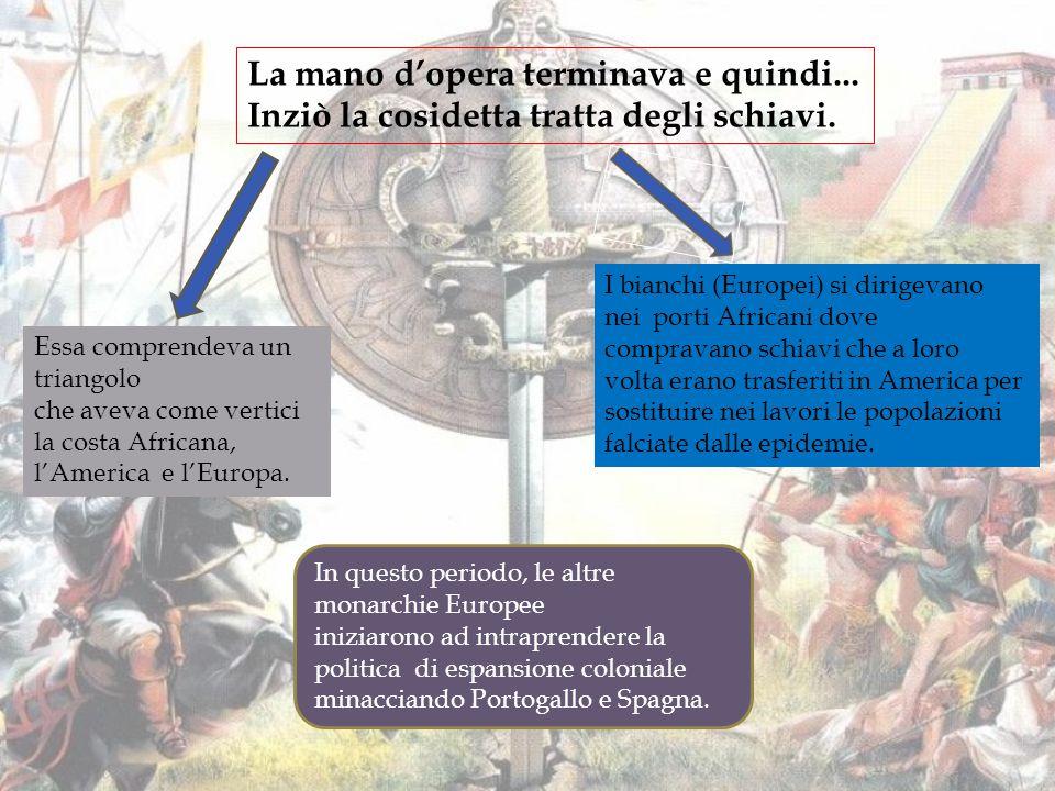 la TRATTA DEGLI SCHIAVI Circunavigazione dell'Africa Circunavigazione terrestre da parte di Magellano Linea del trattato di Tordesillas