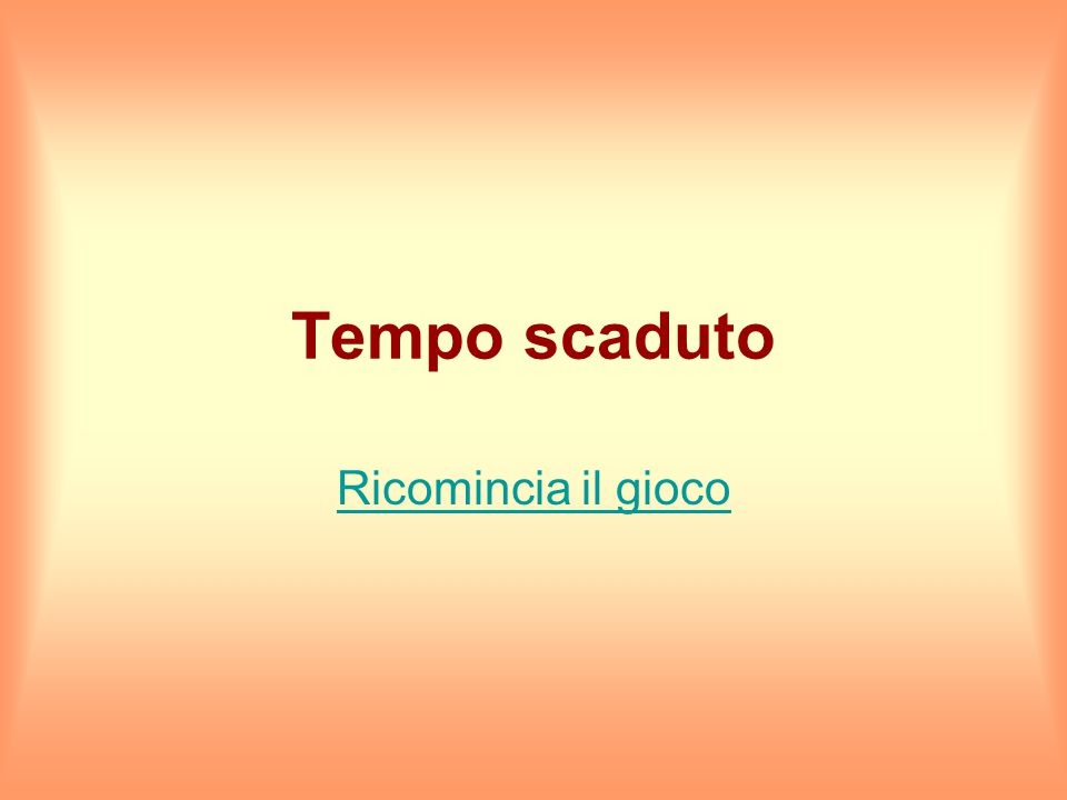 Hai 15 secondi per rispondere Firenze Milano Napoli Pisa Roma Torino Venezia Hai totalizzato 6 punti