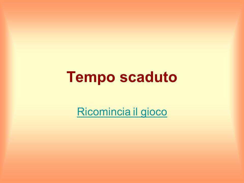 Hai 15 secondi per rispondere Firenze Milano Napoli Pisa Roma Torino Venezia Hai totalizzato 2 punti