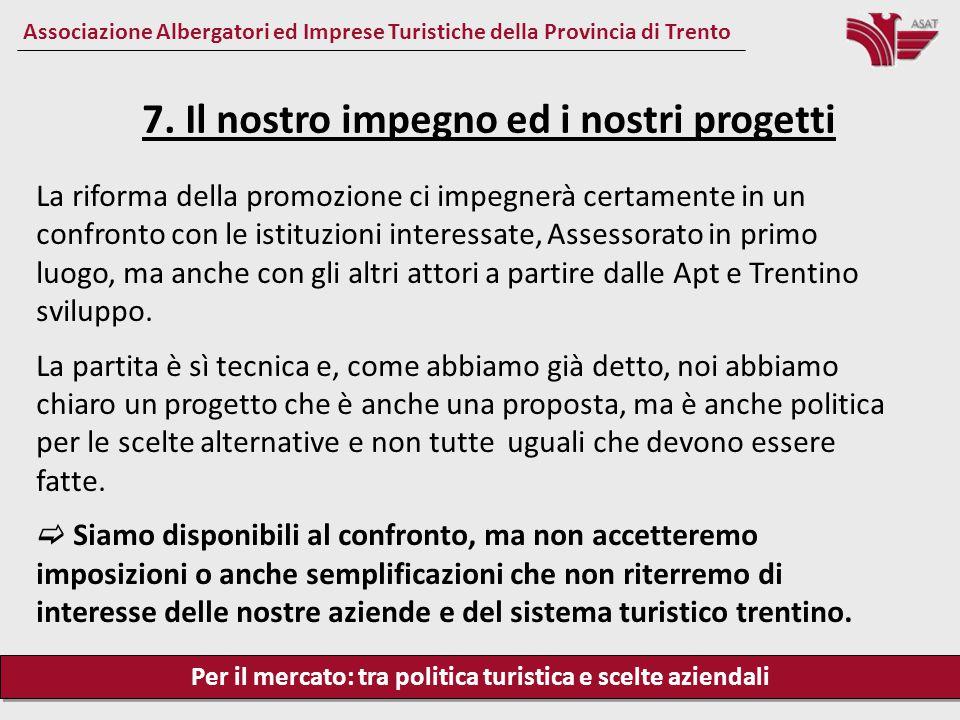 Per il mercato: tra politica turistica e scelte aziendali Associazione Albergatori ed Imprese Turistiche della Provincia di Trento La riforma della pr