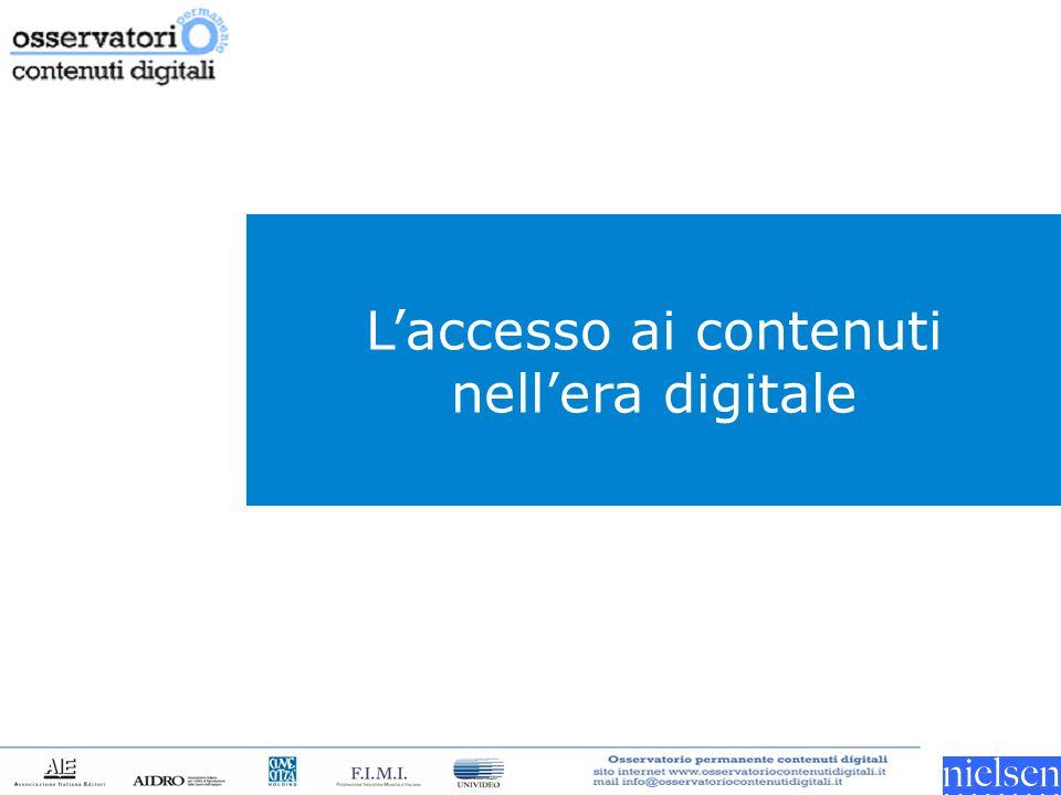 L'accesso ai contenuti nell'era digitale