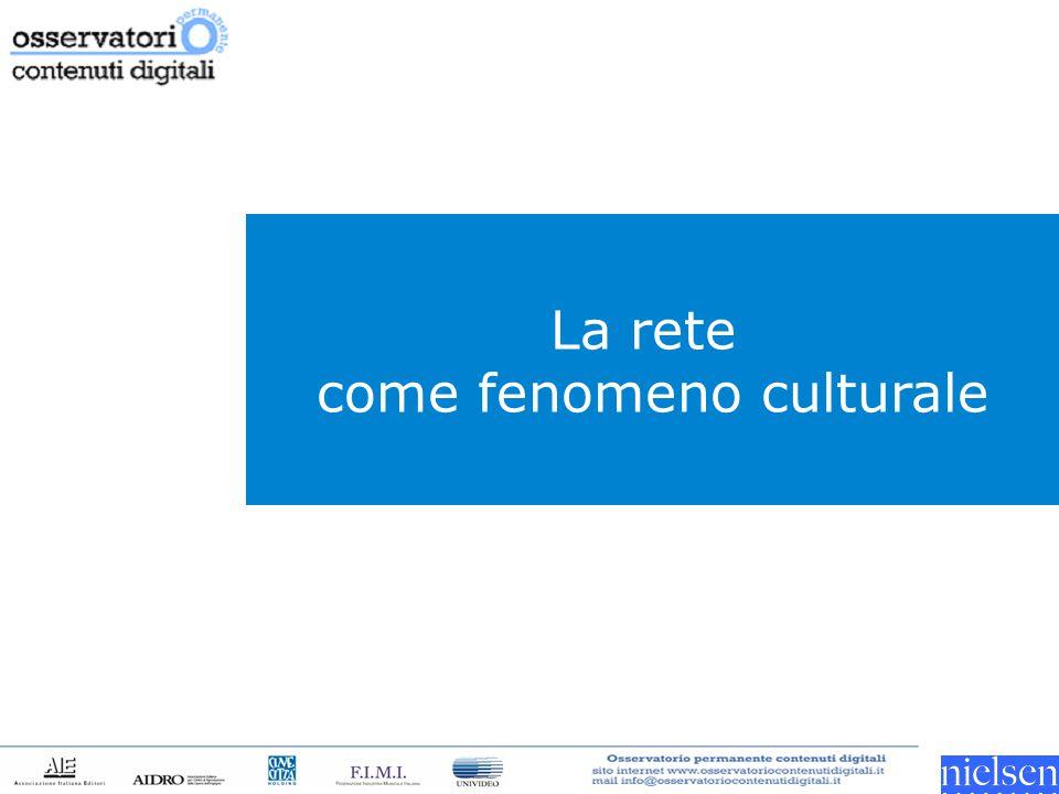 La rete come fenomeno culturale