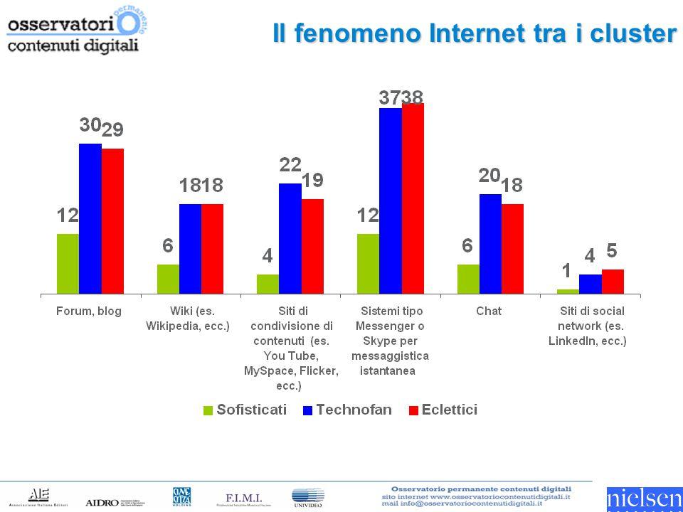Il fenomeno Internet tra i cluster