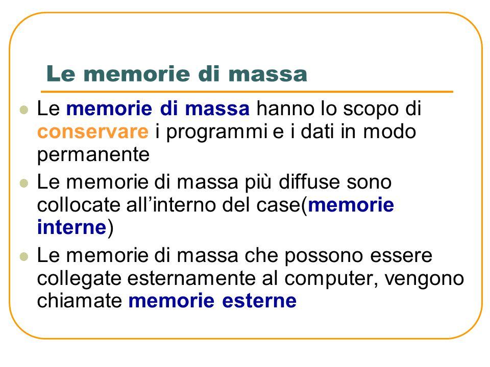 Cache memory La memoria cache (termina che deriva dalla lingua francese e che significa nascosto) svolge un compito di memorizzazione temporanea dei d