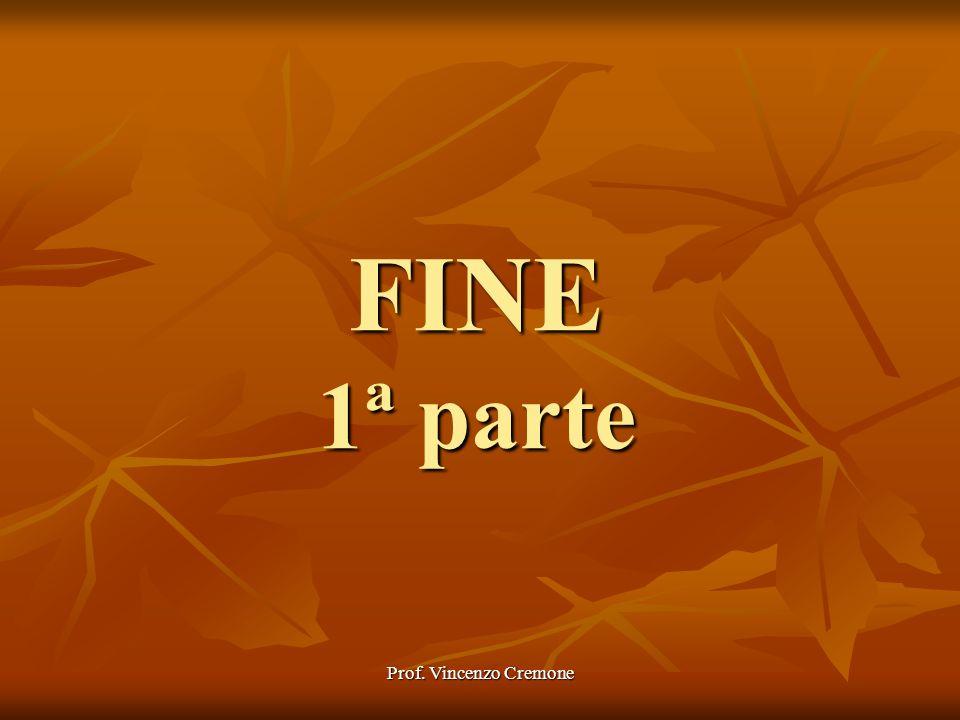Prof. Vincenzo Cremone FINE 1ª parte