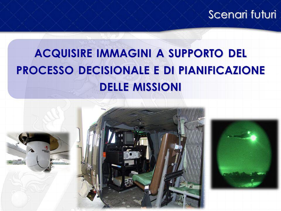 Scenari futuri ACQUISIRE IMMAGINI A SUPPORTO DEL PROCESSO DECISIONALE E DI PIANIFICAZIONE DELLE MISSIONI