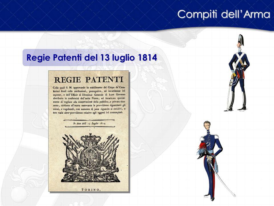 Regie Patenti del 13 luglio 1814