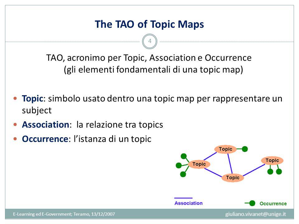 Subject e Topic Un subject può essere qualunque cosa riguardo alla quale è possibile fare una dichiarazione; è dunque un oggetto di discorso, l'oggetto del nostro pensiero (un concetto, un nome, un luogo, etc.).