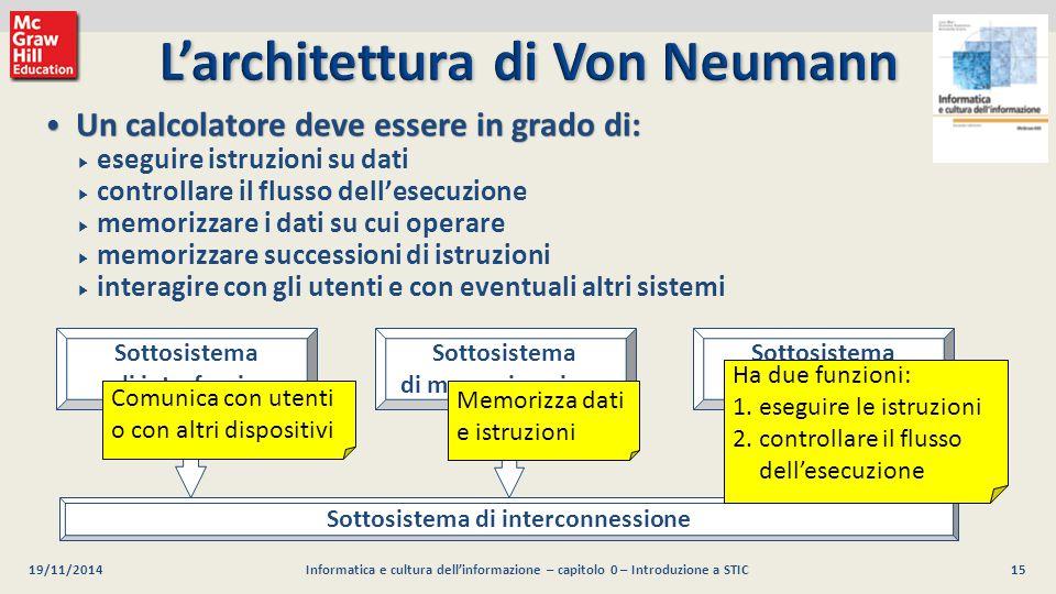 15 Luca Mari, Giacomo Buonanno e Donatella Sciuto Informatica e cultura dell'informazione, 2/ed ©2013 McGraw-Hill Education (Italy) S.r.l. 19/11/2014I