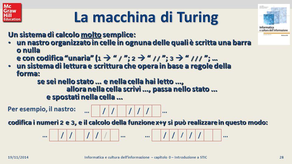 28 Luca Mari, Giacomo Buonanno e Donatella Sciuto Informatica e cultura dell'informazione, 2/ed ©2013 McGraw-Hill Education (Italy) S.r.l. 19/11/2014I