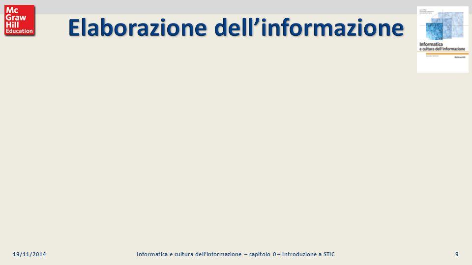 9 Luca Mari, Giacomo Buonanno e Donatella Sciuto Informatica e cultura dell'informazione, 2/ed ©2013 McGraw-Hill Education (Italy) S.r.l. O g n i e s