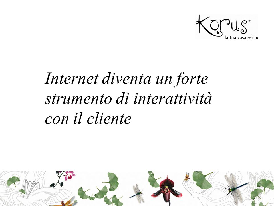 Internet diventa un forte strumento di interattività con il cliente