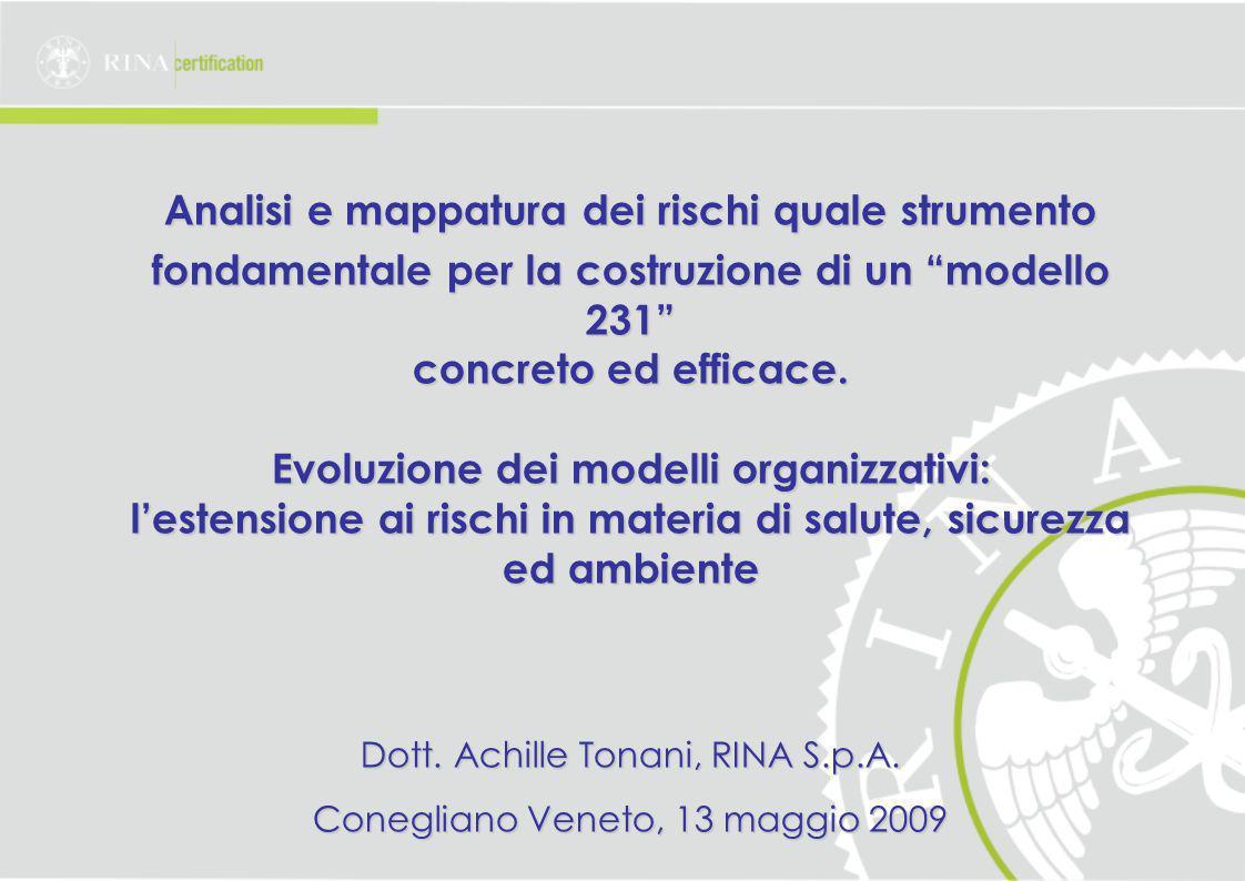 Analisi e mappatura dei rischi quale strumento fondamentale per la costruzione di un modello 231 concreto ed efficace.
