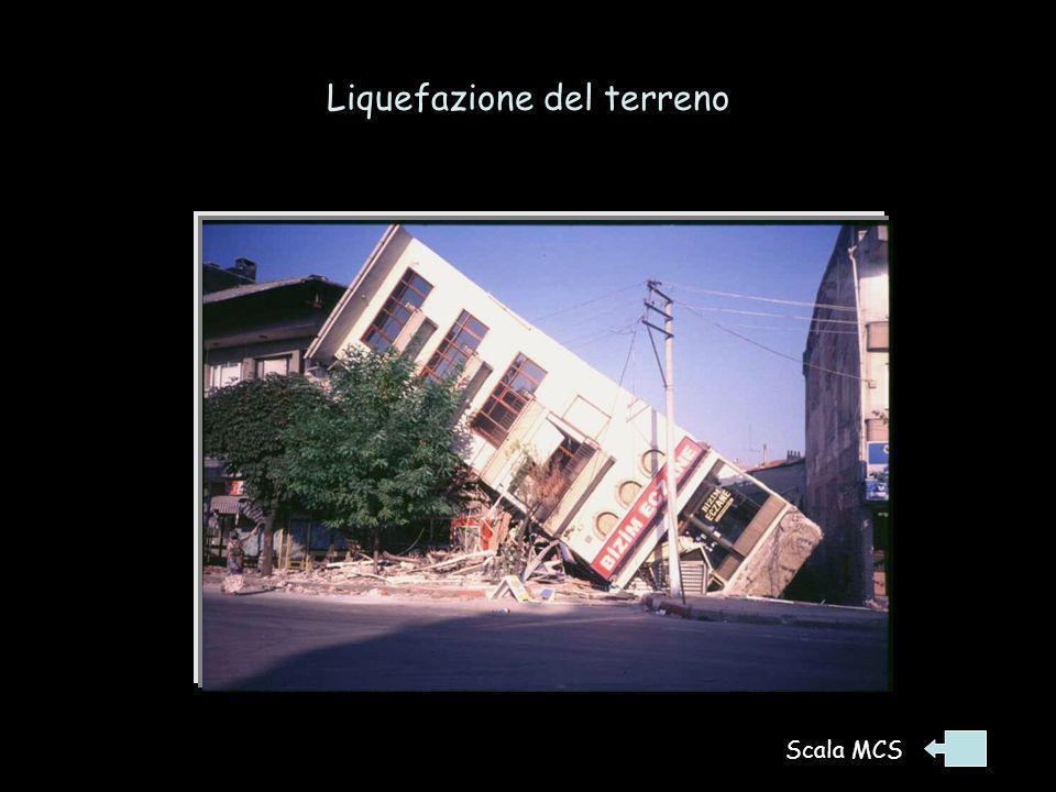 Liquefazione del terreno Terremoto 18/8/1999 Turchia occ. Scala MCS
