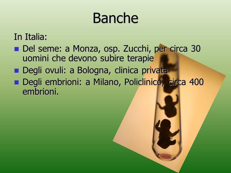 Banche In Italia: Del seme: a Monza, osp. Zucchi, per circa 30 uomini che devono subire terapie Del seme: a Monza, osp. Zucchi, per circa 30 uomini ch