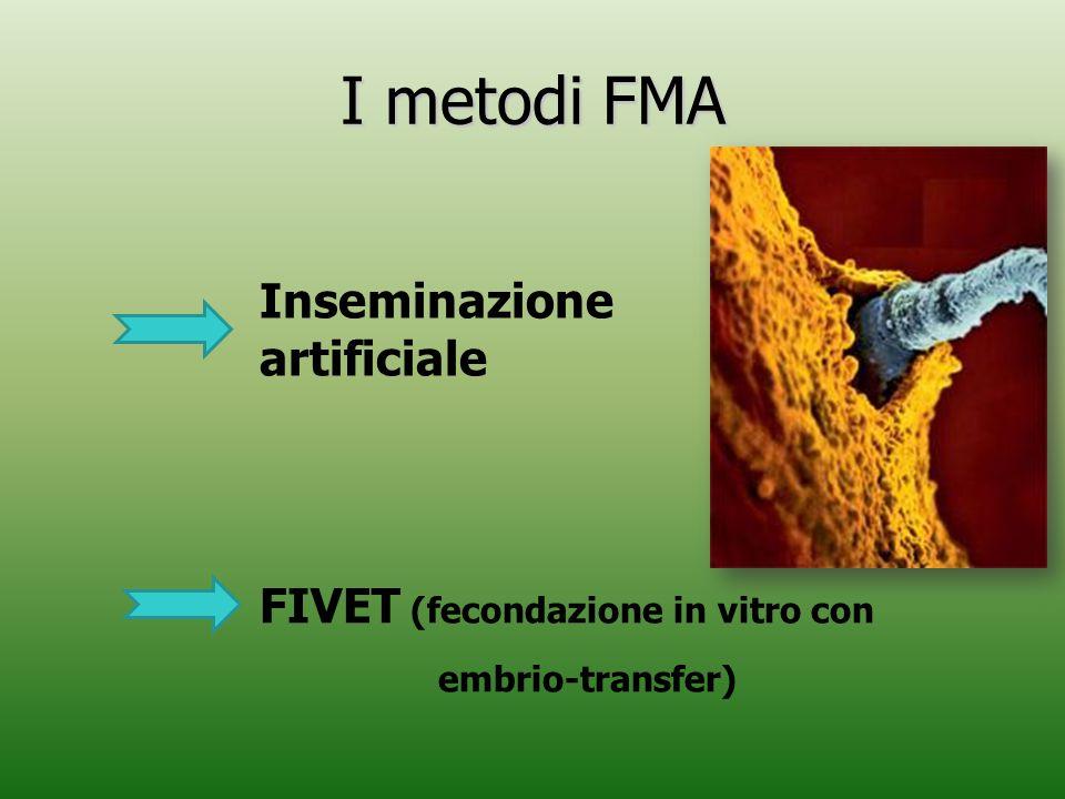 I metodi FMA Inseminazione artificiale FIVET (fecondazione in vitro con embrio-transfer)