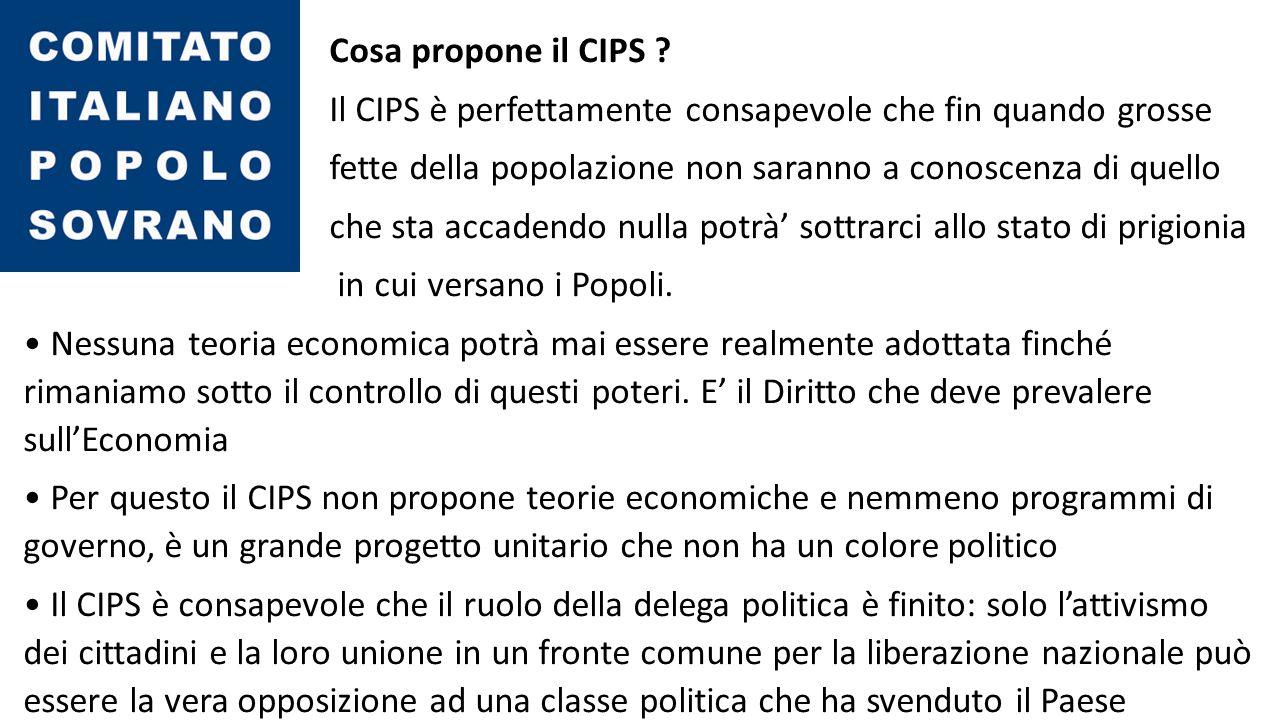 Cosa propone il CIPS .