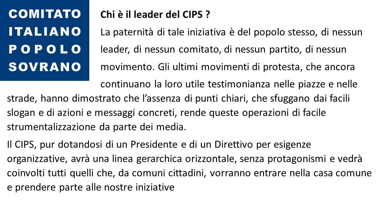 Chi è il leader del CIPS .
