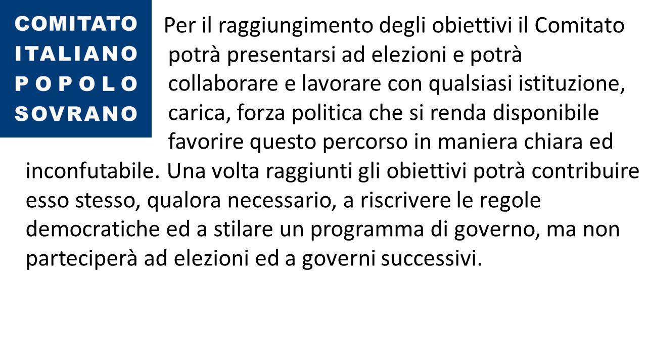 Cosa propone il Comitato Italiano Popolo Sovrano.