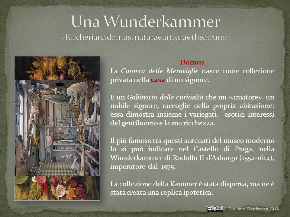 Giuliano Cianfrocca 2014 Ars La Camera delle Meraviglie ospita anche l'opera della mano dell'uomo, il prodotto dell'arte umana.