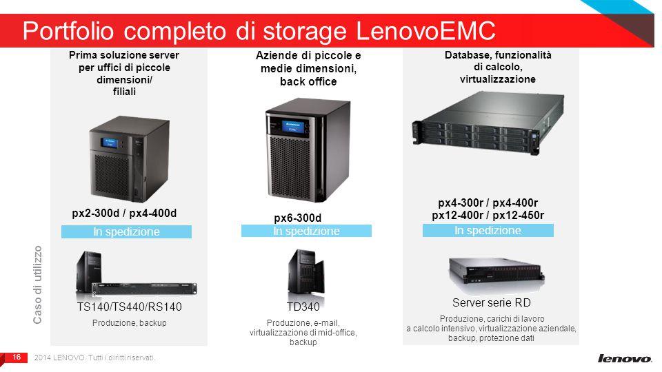 16 Portfolio completo di storage LenovoEMC px6-300d px2-300d / px4-400d In spedizione Prima soluzione server per uffici di piccole dimensioni/ filiali