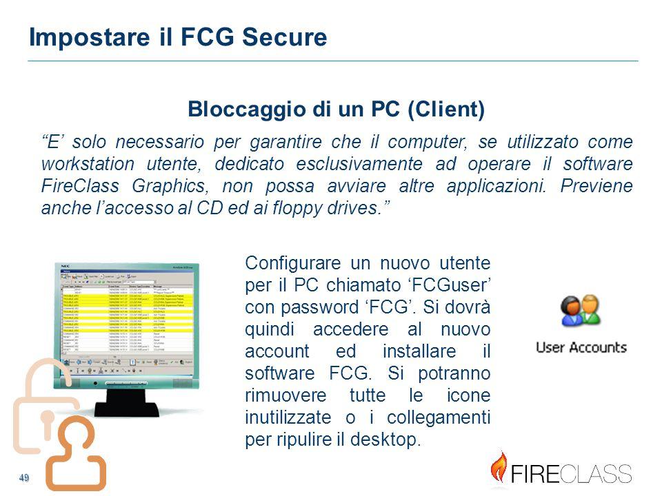 50 50 Impostare il FCG Secure Non è consigliato di impostare il PC in 'Power Options' a 'Turn off Hard Disks', 'Standby', o 'Hibernate' nè con Windows 7 nè con Windows XP come sotto indicato.
