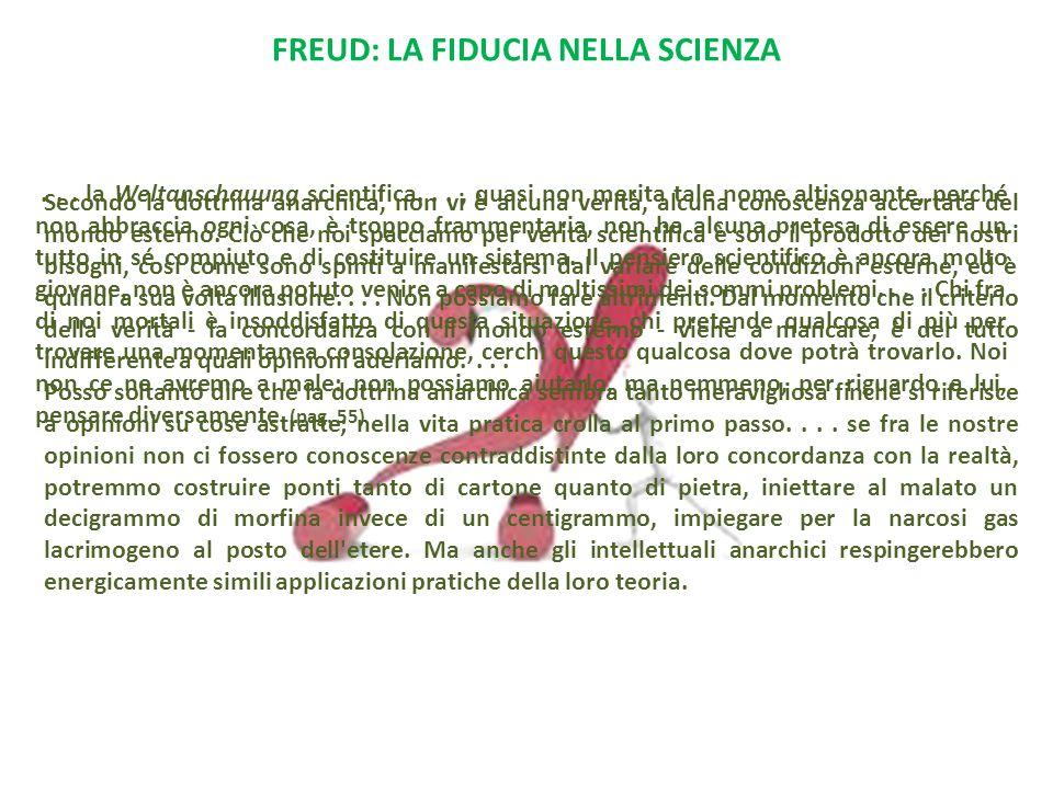 FREUD: LA FIDUCIA NELLA SCIENZA...