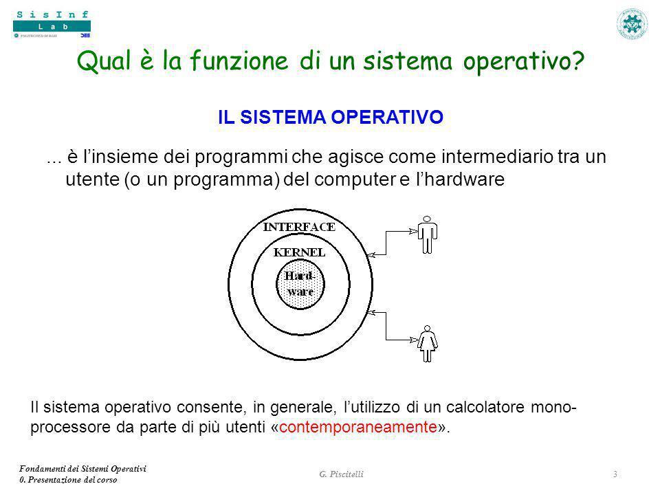 Fondamenti dei Sistemi Operativi 0.Presentazione del corso IL SISTEMA OPERATIVO...