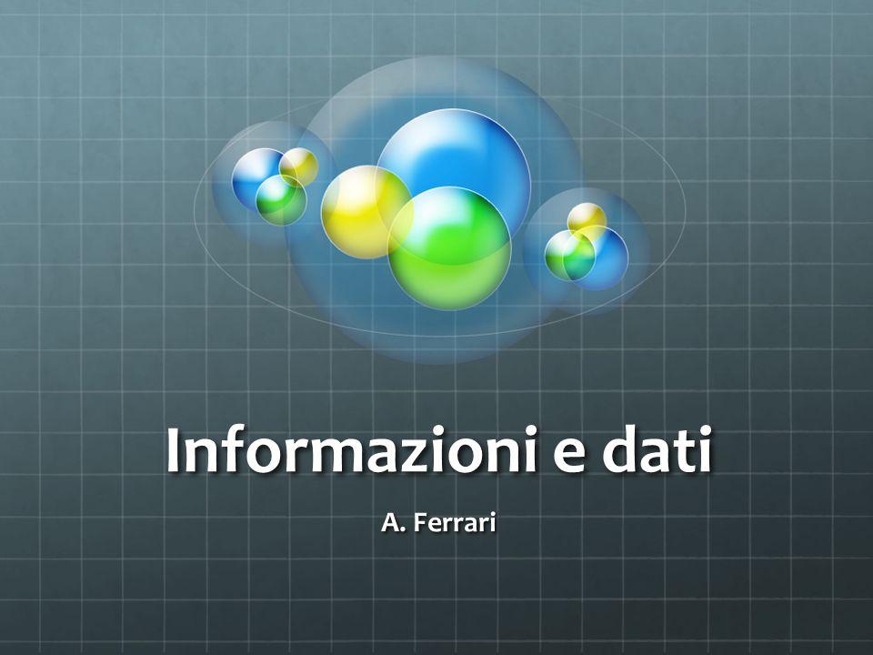 Informazione rappresentata da più dati