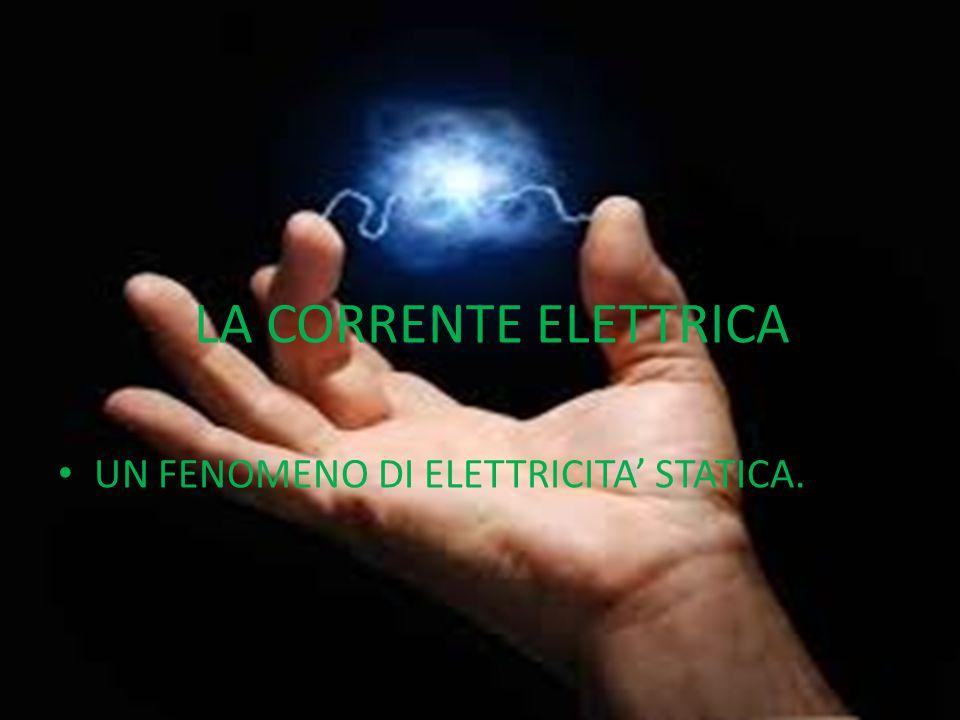 LA CORRENTE ELETTRICA UN FENOMENO DI ELETTRICITA' STATICA.