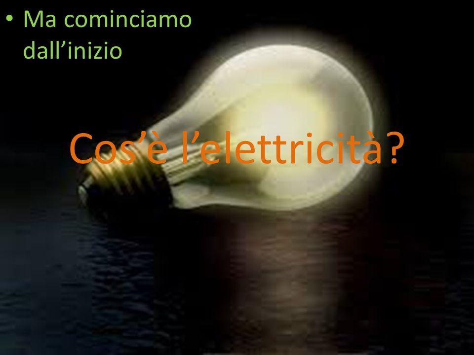 L'ELETTRICITA' L'ENERGIA PIU' USATA NELLA VITA QUOTIDIANA