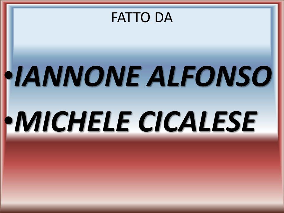 FATTO DA IANNONE ALFONSO IANNONE ALFONSO MICHELE CICALESE MICHELE CICALESE