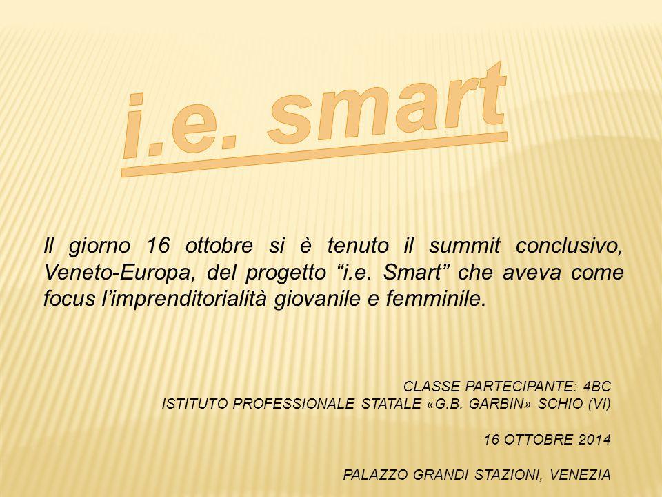 """Il giorno 16 ottobre si è tenuto il summit conclusivo, Veneto-Europa, del progetto """"i.e. Smart"""" che aveva come focus l'imprenditorialità giovanile e f"""